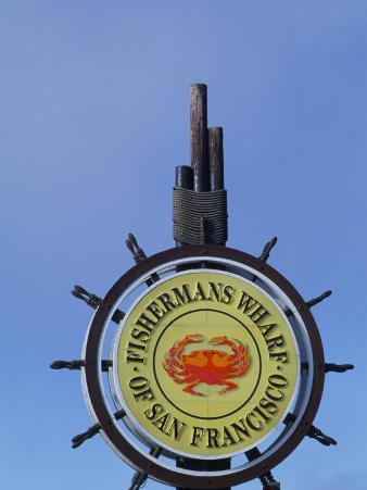 Sign for Fisherman's Wharf, San Francisco, California, USA
