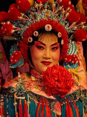 Sichuan Opera, Shu Feng Ya Yun Tea House in Chengdue, Shaanxi Province, China