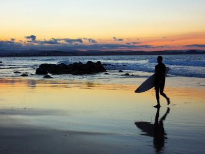 Surfer at Dusk, Gold Coast, Queensland, Australia