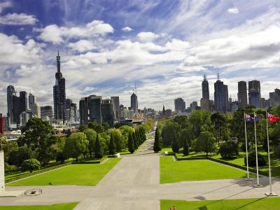 View from the Shrine of Remembrance, Melbourne, Victoria, Australia