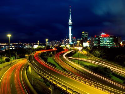 Motorways and Skytower, Auckland