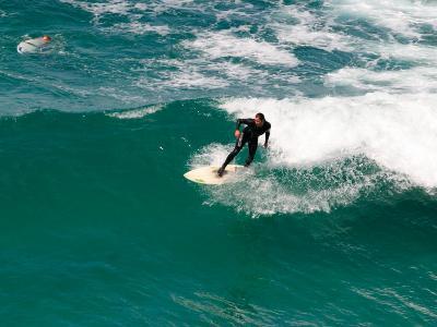 Surfer, St Clair Beach, Dunedin, South Island, New Zealand