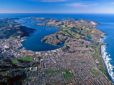 Otago Harbor and Otago Peninsula, Dunedin City, New Zealand