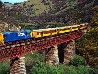 Taieri Gorge Train, near Dunedin, Otago, New Zealand