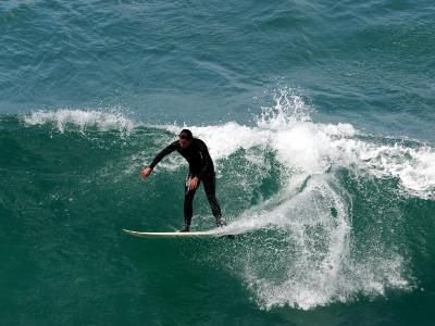 Surfer, St Clair Beach, Dunedin, New Zealand