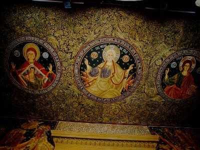 Orthodox Icons on Ceiling of Church in St. Paul and Peter's Cathedral, Constanta, Romania
