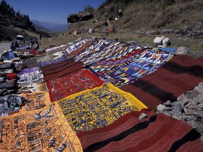 Textiles for Sale near Incan Site, Tambomachay, Peru