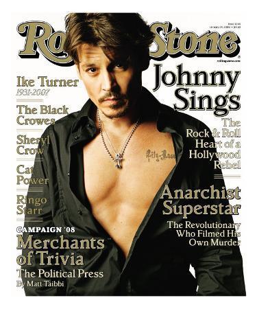 Johnny Depp, Rolling Stone no. 1044, January 2008