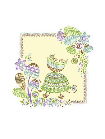 Friendly Turtle Batik