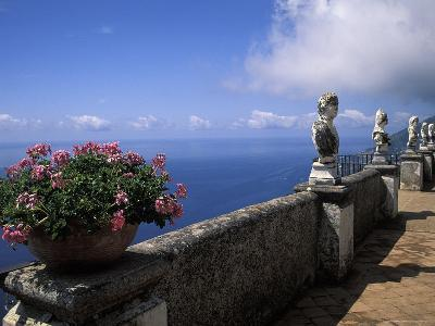 Belvedere of Infinity at the Villa Cimbrone on the Amalfi Coast in Ravello, Italy