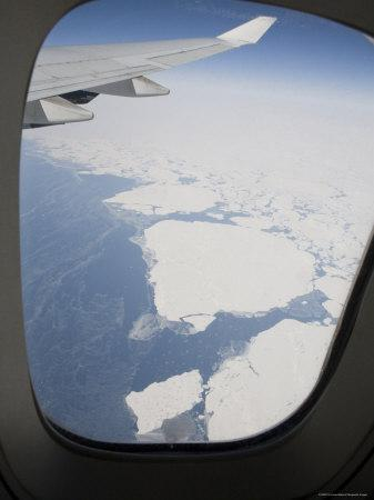Aerial Views of the Arctic Ocean from a Commercial Jet Window