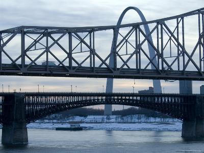 Bridge in St. Louis, Missouri at Dusk