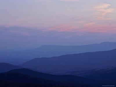 Blue Ridge Mountains at Dusk, Virginia