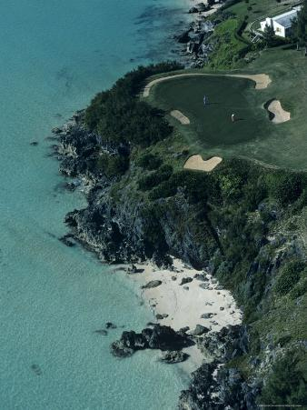 Aerial of a Golf Course in Bermuda