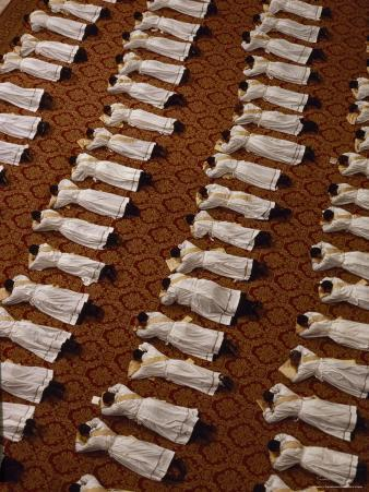 Catholic Clergy Prostrate Themselves During Ordination Ceremonies