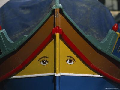 Colorfully Painted Gondola, or Daghjsa, at Senglea's Wharf
