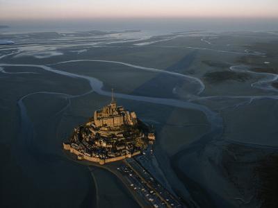 Aerial View of Mont-Saint-Michel, France
