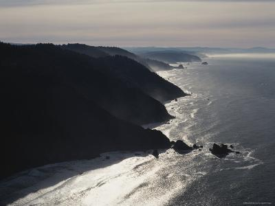 Aerial View of the Pacific Coast of Redwood National Park, California