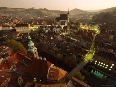 Cesky Krumlov from its Castle in Southern Bohemia on the Vltava River
