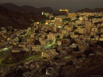 Aerial View of the Omani Capital, Situated on Muscat Bay of the Gulf of Oman