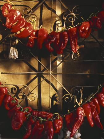 Israel: Red Peppers Drying in the Sun