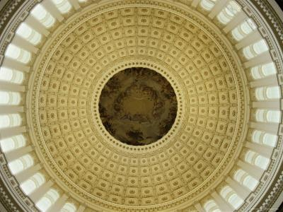Interior of the Dome of the U.S. Capitol Building, Washington, D.C.