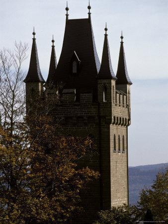 Fairytale Turret at Burg Hohenzollern Castle 1850-1867, in Bavaria