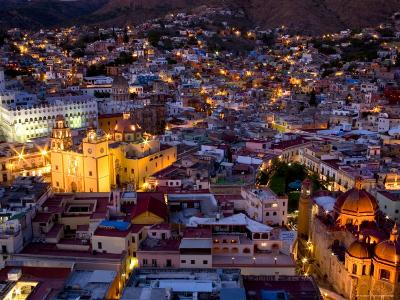 Guanajuato Lit Up at Night, Mexico