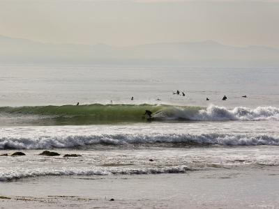 Nice Waves and Surfer Getting Barreled at Faria Beach, California