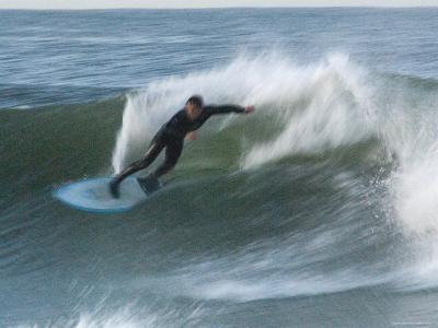 Motion Blur of a Surfer at Ventura Point, California