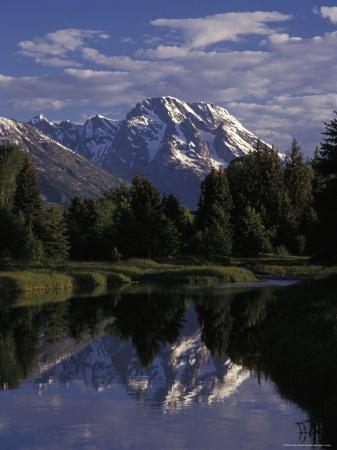 Reflection of the Teton Mountains in Snake River