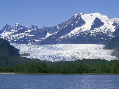 Mendenhall Lake, Mendenhall Towers, Glacier and Mount Wrather, Alaska