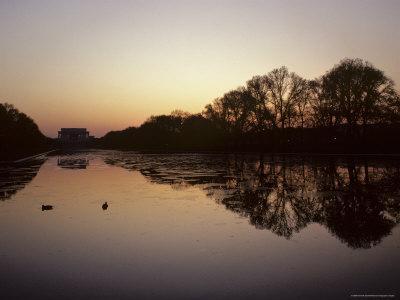 Reflecting Pool and Lincoln Memorial at Dusk, Washington, D.C.
