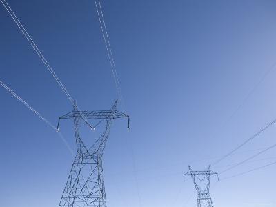 Power Lines against a Blue Sky, Arizona