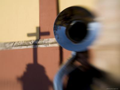 Man Plays a Tuba in the Courtyard of the Basilica of Guanajuato, Mexico