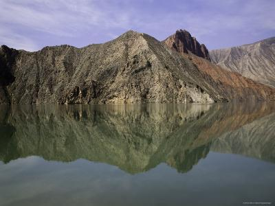 Reflections of Mountains in the Quiet Yellow River, Qinghai, China