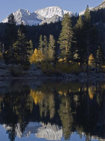 Mount Abbot Reflecting in Rock Creek Lake, California