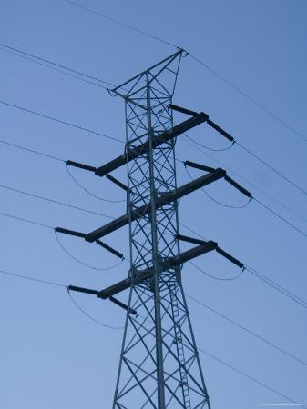 Power Line in St. Louis, Missouri at Dusk