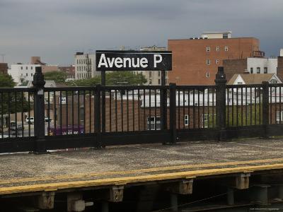 Platform at a Subway Stop in New York