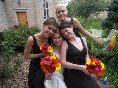 The Bridal Party Before the Wedding Reception