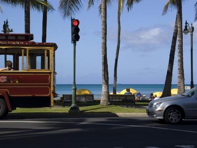 Street Scene at Waikiki Beach, Hololulu, Hawaii