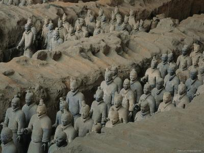 The Terra-Cotta Army near the 2,200-Year-Old Tomb of China's First Emperor, Qin Shi Huang