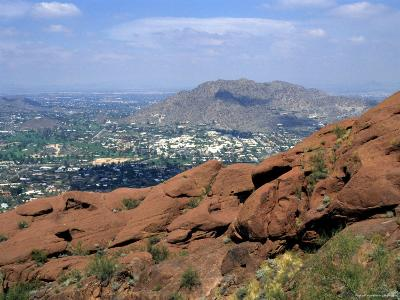 View Overlooking Phoenix, Arizona from Camelback Mountain