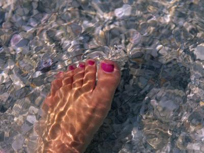 Woman's Foot in the Warm Water of the Gulf of Mexico, Holmes Beach, Florida