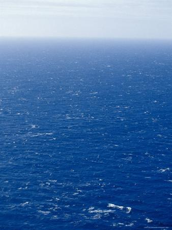 Wind Creates White-Capped Waves Sprinkled Across a Vast Blue Ocean, Bass Strait, Australia