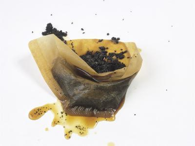 Filter Paper with Coffee Grounds