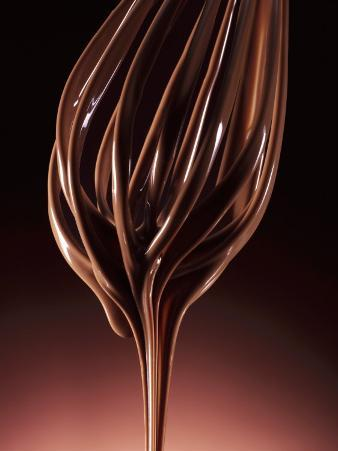 Melted Chocolate Running from a Whisk