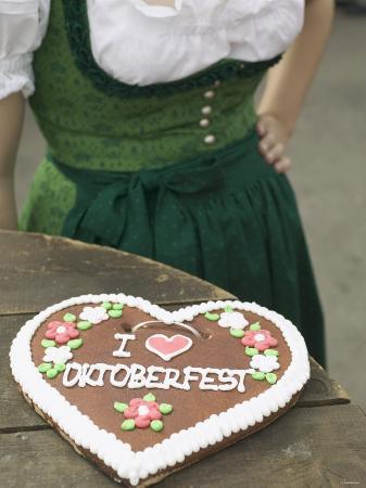 Lebkuchen Heart on Rustic Table