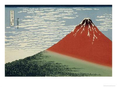 36 Views of Mount Fuji, no. 2: Mount Fuji in Clear Weather (Red Fuji)