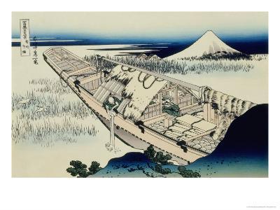 36 Views of Mount Fuji, no. 20: Ushibori in the Hitachi Province